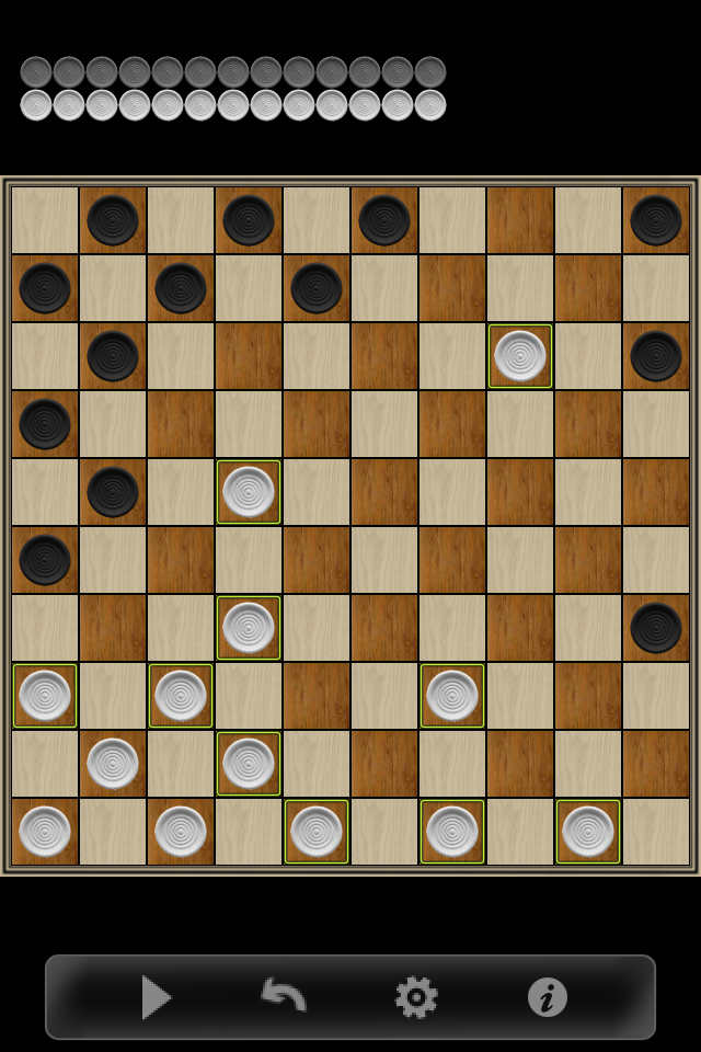 Screenshot Checkers 10×10!